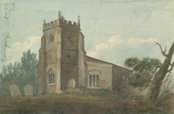 South west view of Barkway Church